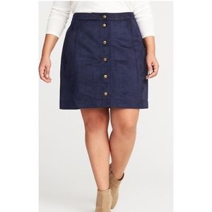 NWT Old Navy Suede Mini Skirt